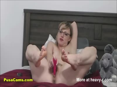 Squirting Teacher With Glasses