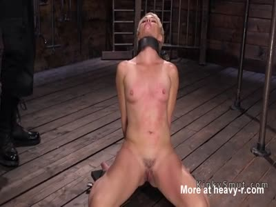 Whipping Small Tits Strapped Slave
