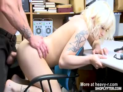 Blonde Shoplifter Takes Unwanted Creampie
