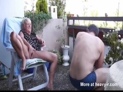 Garden Fuck For Mature Couple