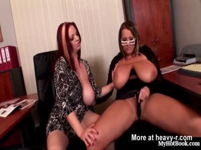 Busty Lesbian Tit Play