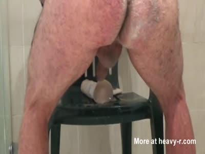 Dildo Anal Chair Fuck part 2
