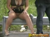 Miami Prostitute Gets Nasty At Bus Stop