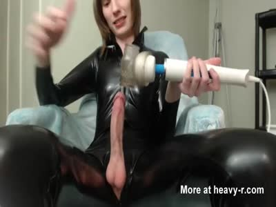 Long Cock Twink in Latex