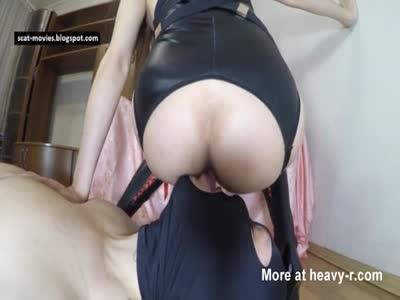 Slave Licks Mistress' Ass