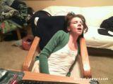 Teen Cums Hard Behind Webcam