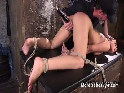 Tied Sub Made To Orgasm Hard