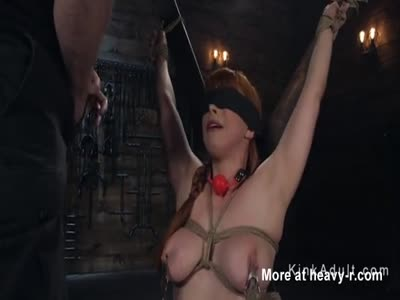 Caning Hogtied Redhead