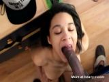 Ebony Wife Getting Mouth Fucked