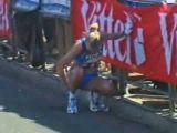 Female marathon runner takes public pee
