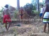 Four Boys Beating Litte Kid