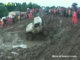 Off Road Driver Nearly Drowns In Mud