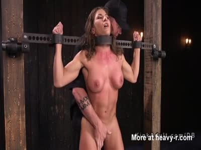 Busty Bound Slave DP Toyed
