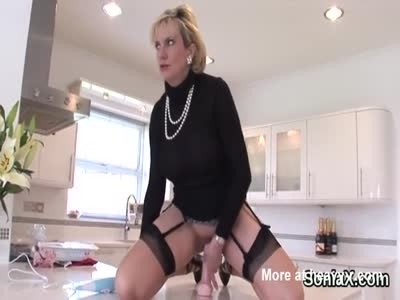 Mature With Her New Toys