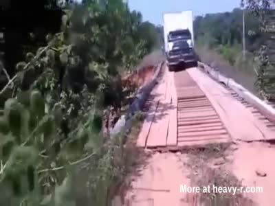 Truck Too Heavy For Bridge