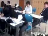 Sleeping Student Slapped