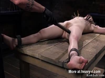 Prodding Bound Slave