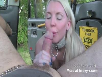 Anal banged blonde gets cab creampie