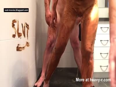 Filthy fucking in shower for slut - shitty shower fuck