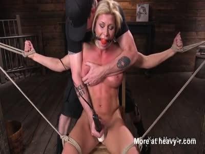 Hogtied BDSM Babe Vibed Hard
