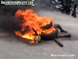 Thief Burned to Death