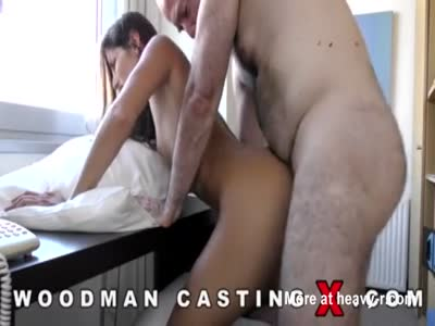 Hairy Man Fucks Brunette At Casting