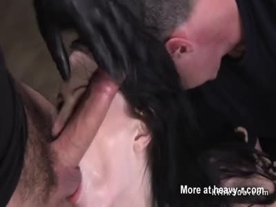 Pale brunette gets toy up her ass