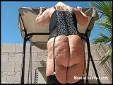 Old BBW Pissing Outdoors