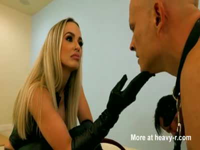 Blonde Dominant Mistress Testing Whips