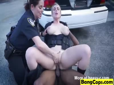 Hardcore interracial fucking with cops