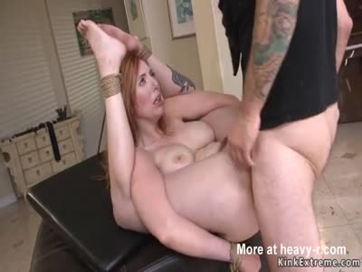 Handcuffed Redhead Takes Anal Sex