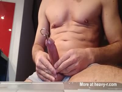 Iron rod in cock