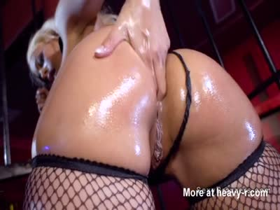 Oiled Butt Blonde Anal Banged Hard