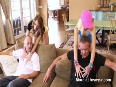 Amateur stepdaughter foursome in stepfather fantasy