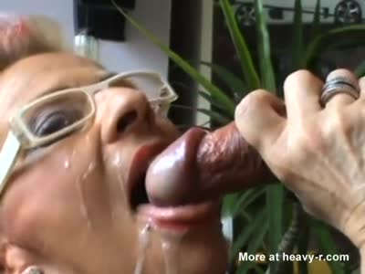 Tattooed Mature Takes Big Cumshot