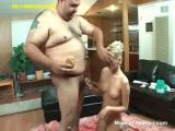 Skinny Girl Fucking A Fat Guy