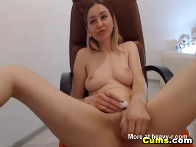 Busty Babe Dildo Fucking Shaved Pussy