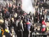 Violent Battle Between Protestors And Police
