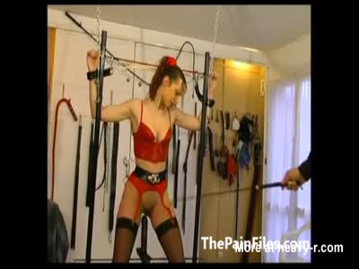 Rough Ass Whipping Of Tied Up Slave