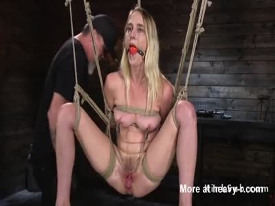 Hogties And Gagged Blonde
