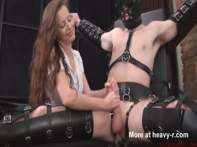 Luxury Handjob For Bound Man