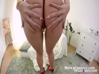 Busty Blonde In POV Action