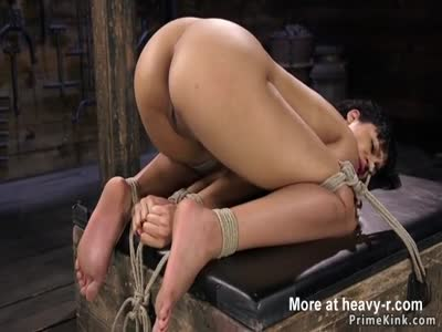 Ebony Slave Whipped In Bondage