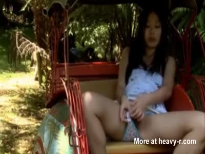 Linh from Vietnam playing outdoors