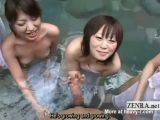 Handjob In Mixed Japanese Bath