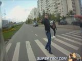 Armed street crossing