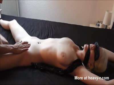 Blonde Teen Gets Fucked Tied