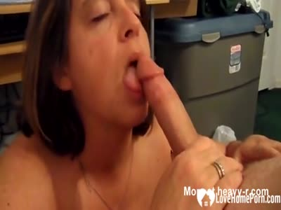 Horny wife sucking a big hard dick in poitn of view