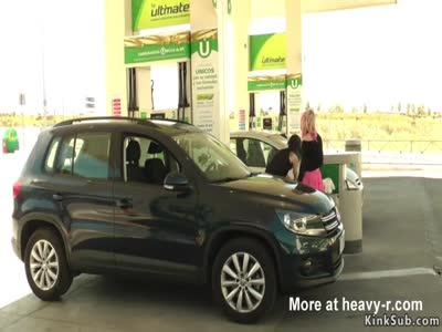 Blonde Disgraced At Gas Station