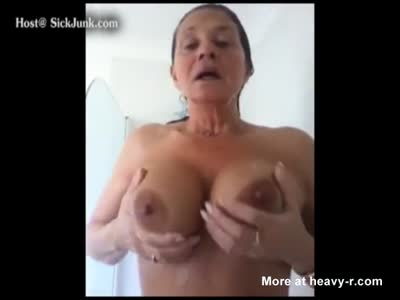 Granny Shows Off Her Big Tits